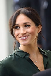 Meghan Markle, The Duchess of Sussex, arrives at the University of Chichester, Bognor Regis, West Sussex, as part of their first joint official visit to Sussex. Picture date:  Wednesday October 3rd, 2018. Photo credit should read: Matt Crossick/ EMPICS.