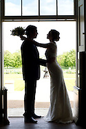 Bride, Bridegroom, Face To Face, Embracing, Door,