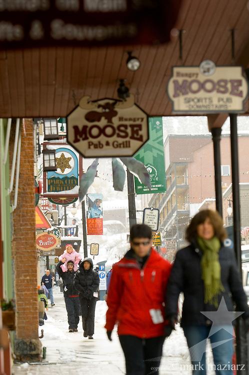winter day on Park City's Historic Main Street