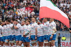 March 16, 2019 - Rome, Rome, Italy - Italy during the Guinness Six Nations match between Italy and France at Stadio Olimpico on March 16, 2019 in Rome, Italy. (Credit Image: © Emmanuele Ciancaglini/NurPhoto via ZUMA Press)