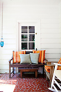 Emily Saliers, best known for being one half of the folk rock band the Indigo Girls, has a two-bedroom home in Decatur, Georgia. A back sun porch overlooks the backyard, seen June 14, 2010...CREDIT: Kendrick Brinson/LUCEO.EmilySaliers