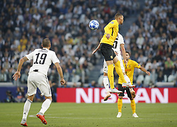October 2, 2018 - Turin, Italy - Guillaume Hoarau during Champions League match between Juventus v Young Boys, in Turin, on October 2, 2018. (Credit Image: © Loris Roselli/NurPhoto/ZUMA Press)
