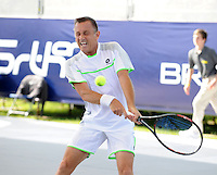 Brodies Champions of Tennis.<br /> Mikael Pernfors takes on Wayne Ferreira  in the second match of the tournament.<br /> Pic shows: Mikael Pernfors in action.