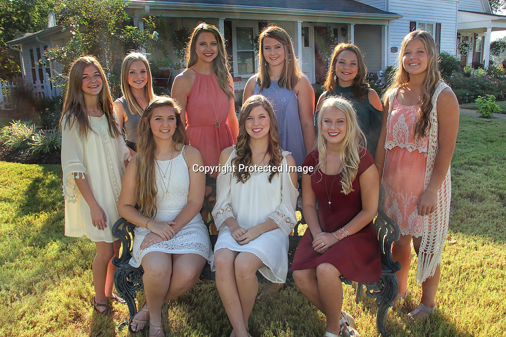ADAM ARMOUR I BUY AT PHOTOS.ITAWAMBATIMES.COM<br /> MHS HOMECOMING COURT - Mantachie High School as selected its homecoming court for 2016. They include, seated, from left, Emily Stephens, senior maid, daughter of Michael and Denise Stephens and Mark and Camille Roberts; Allie DuBose, homecoming queen, daughter of Karen and Michael DuBose; McKenna Lindsey, senior maid, daughter of Ricky and Lisa Lindsey; and standing, from left, Americus Parker, freshman maid, daughter of Bruce and Ashley Parker; Ashely Ayers, freshman maid, daughter of Christy Howard; Chloe Scott, sophomore maid, daughter of Joe Sam and the late Tammy Scott; Abby Michael, junior maid, daughter of Melba and Mac Grimes and Jason Michael; Autumn Roberson, sophomore maid, daughter of Summer Wood and Jerry Wood; and Hallie Lindsey, junior maid, daughter of Lisa and Joey Lindsey. The court will be presented during a special pre-homecoming game event this Friday night at 6:30 p.m. The Mantachie Mustangs will face off against Alcorn Central beginning at 7 p.m. Following the game, the school will host a homecoming dance at the Mustang Corral, beginning at 9:30 p.m.