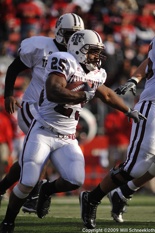 Oct 10, 2009; Piscataway, NJ, USA; Texas Southern running back Martin Gilbert (25) runs the football during first half NCAA college football action between Rutgers and Texas Southern at Rutgers Stadium.