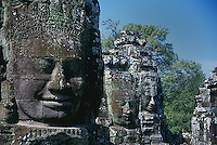 The faces of Bayon temple, Angkor Thom.