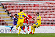 Barnsley midfielder Brad Potts (20) through on goal during the EFL Sky Bet League 1 match between Barnsley and AFC Wimbledon at Oakwell, Barnsley, England on 18 August 2018.
