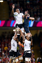 Fiji Lock Leone Nakarawa and Wales Lock Alun Wyn Jones compete at a lineout - Mandatory byline: Rogan Thomson/JMP - 07966 386802 - 01/10/2015 - RUGBY UNION - Millennium Stadium - Cardiff, Wales - Wales v Fiji - Rugby World Cup 2015 Pool A.