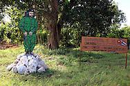 Che Guevara sign in Baragua, Ciego de Avila Province, Cuba.