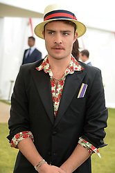 Actor ED WESTWICK at the 2013 Cartier Queens Cup Polo at Guards Polo Club, Berkshire on 16th June 2013.