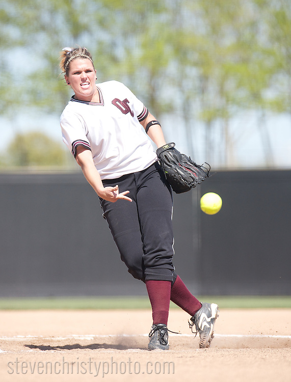 April 10, 2010: The Southern Nazarene University Crimson Storm play against the Oklahoma Christian University Lady Eagles on the campus of Oklahoma Christian University.