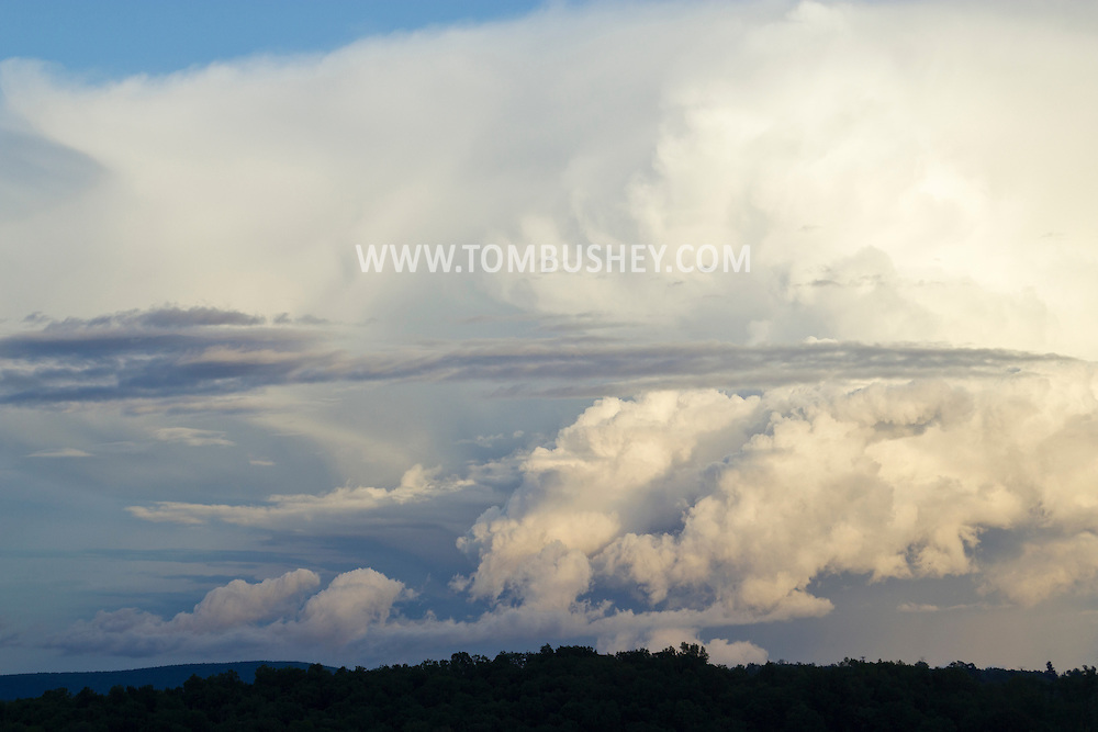 Goshen, New York - Dramatic clouds in the early evening sky on May 24, 2014.