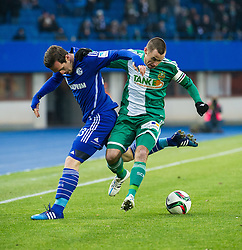 24.01.2015, Ernst Happel Stadion, Wien, AUT, FS Vorbereitung, Fußball Testspiel, SK Rapid Wien vs FC Schalke 04, im Bild Christian Fuchs (FC Schalke 04) und Steffen Hofmann, (SK Rapid Wien, #11) // during a international football frindly match between SK Rapid Vienna and FC Schalke 04 at the Ernst Happel Stadium, Vienna, Austria on 2015/01/24. EXPA Pictures © 2015, PhotoCredit: EXPA/ Michael Gruber