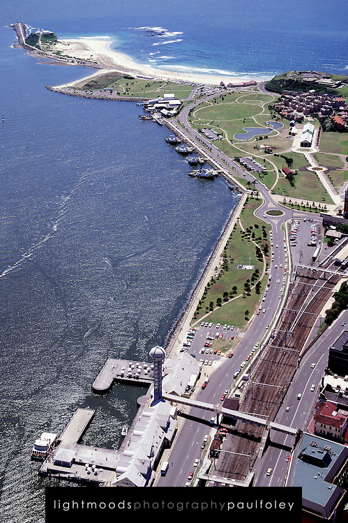 Newcastle Harbour, showing the Foreshore and Nobbys Headland