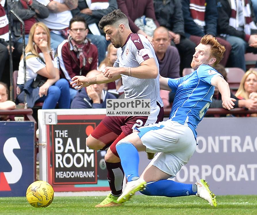 Callum Paterson (Hearts) and Dave Mackay (St Johnstone)<br /> <br /> (c) DAVE JOHNSTON | SportPix