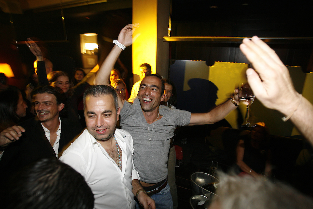 Frederick's Lounge. New York, New York.  Unites States..October 14th 2006..Red Bulls French soccer player Youri Djorkaeff parties with familly and friends after a game against Kansas City at the Giants Stadium.This game could have been his last one as a professional player if the Red Bulls didn't win 3-2.