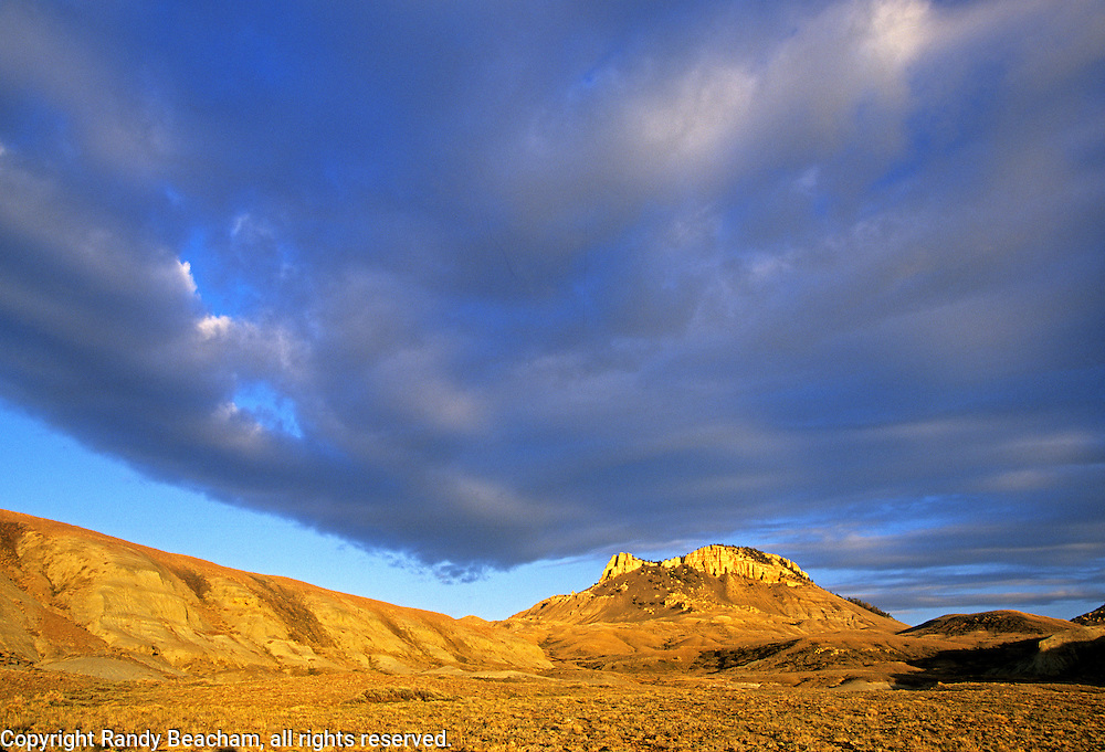 Oregon Buttes in the Red Desert. Great Divide Basin near South Pass, Wyoming