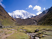 On a small plain (pampa) just before the ascent to Salkantay Pass, near Soraypampa, Peru.