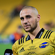 TJ Perenara (100 games) after  the super rugby union  game between Hurricanes  and Highlanders, played at Westpac Stadium, Wellington, New Zealand on 24 March 2018.  Hurricanes won 29-12.