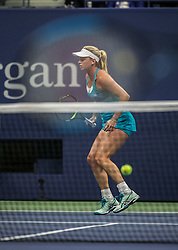 September 7, 2017 - Flushing Meadows, New York, U.S - CoCo Vandeweghe during her game on Day Eleven of the 2017 US Open against Madison Keys at the USTA Billie Jean King National Tennis Center on Thursday September 7, 2017 in the Flushing neighborhood of the Queens borough of New York City.  Keys defeats Vandeweghe, 6-1, 6-2. (Credit Image: © Prensa Internacional via ZUMA Wire)