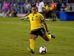 October 12, 2018 - Edinburgh, Scotland, United Kingdom - Edinburg, NC - OCTOBER 11: 2018.Lauren Silver of Jamaica.During CONCACAF Women's Championship Group B match between Cuba against Jamaica at H-E-BPark Stadium, Edinburg,  on October 11, 2018  (Credit Image: © Action Foto Sport/NurPhoto via ZUMA Press)