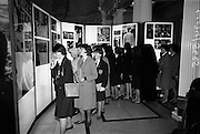 11/11/1964<br /> 11 November 1964<br /> <br /> Students from castledermot scoil mhuire in County Kildaer view a large collection of the Presidents Personal Pictures and documents at the Kennedy Exhibition.
