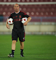 TRABZON, TURKEY - Wednesday, August 25, 2010: Liverpool's first team kit-man Lee Radcliffe during training at the Huseyin Avni Aker Stadium ahead of the UEFA Europa League Play-Off 2nd Leg match against Trabzonspor A.S. (Pic by: David Rawcliffe/Propaganda)