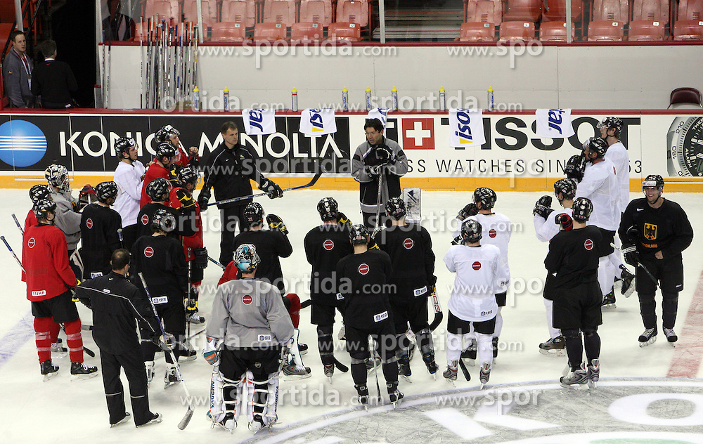 German Ice hockey Team at practice at Metro Centre  in Halifax at IIHF World Championship 2008,  on May 01, 2008, Halifax, Canada.  (Photo by Vid Ponikvar / Sportal Images)