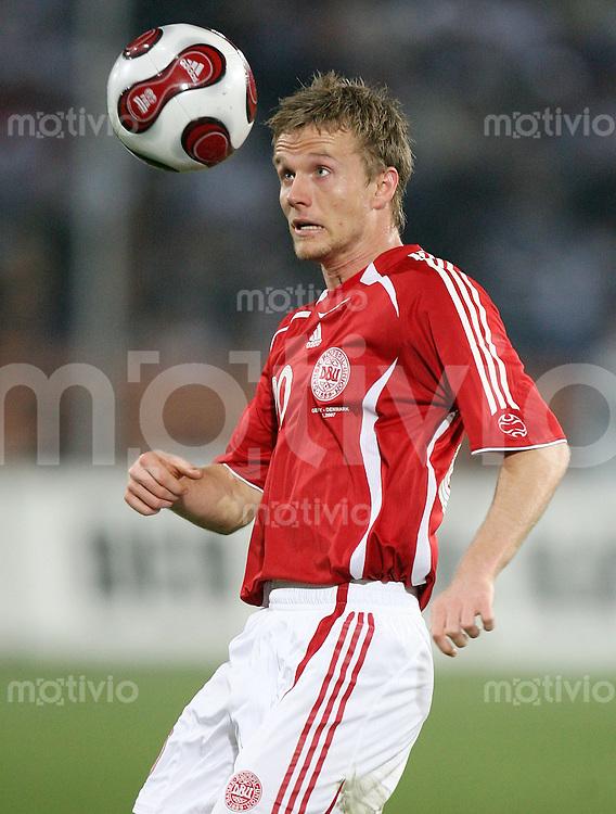 Fussball  International  2006/20007 Rasmus WUERTZ (Daenemark), Einzelaktion am Ball