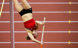 Angelica Moser of Switzerland competes in the Pole Vault Women Final on day two of the 2017 European Athletics Indoor Championships at the Kombank Arena on March 4, 2017 in Belgrade, Serbia. Photo by Vid Ponikvar / Sportida