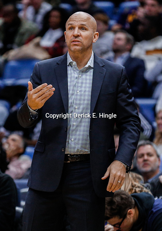 Dec 13, 2017; New Orleans, LA, USA; Milwaukee Bucks head coach Jason Kidd against the New Orleans Pelicans during the second half at the Smoothie King Center. The Pelicans defeated the Bucks 115-108. Mandatory Credit: Derick E. Hingle-USA TODAY Sports