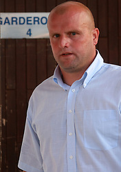 Head coach of Domzale Robert Pevnik after 7th Round of PrvaLiga Telekom Slovenije between FC Koper vs NK Domzale, on August, 2008, in SRC Bonifika, in Koper, Slovenia. (Photo by Vid Ponikvar / Sportal Images)