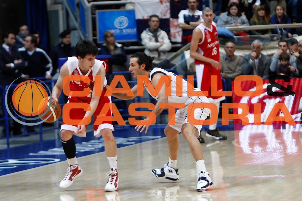 DESCRIZIONE : BOLOGNA Lega A Dilettanti 2009-10 Fortitudo Bologna Acegas Trieste<br /> GIOCATORE : Sorrentino<br /> SQUADRA : Fortitudo Bologna<br /> EVENTO : Campionato Lega A Dilettanti 2009-2010<br /> GARA : Fortitudo Bologna Acegas Trieste<br /> DATA : 10/01/2010<br /> CATEGORIA : Difesa<br /> SPORT : Pallacanestro<br /> AUTORE : Agenzia Ciamillo-Castoria/G.Pappalardo<br /> Galleria : Lega Basket A Dilettanti 2009-2010 <br /> Fotonotizia : Bologna  Campionato Italiano Lega A Dilettanti 2009-2010 Fortitudo Bologna Acegas Trieste<br /> Predefinita :