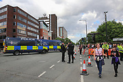 Fans arrive with Security and Police before the One Love Manchester Concert at the Emirates Old Trafford Cricket Ground, Manchester, United Kingdom on 4 June 2017. Photo by Phil Duncan.