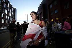UK ENGLAND ROTHERHAM 28AUG14 - Gang rape victim Rebecca Wasser (29) poses for a photo outside the main police station in the town of Rotherham, epicentre of the largest child sex abuse scandal in Britain.<br /> <br /> <br /> <br /> Rebecca Wasser was gang raped at the age of 7 by a group of five Muslim men in Birmingham.<br /> <br /> An August 2014 report found that around 1,400 children had been sexually exploited in the town between 1997 and 2013, mainly by British-Pakistani men.<br /> <br /> jre/Photo by Jiri Rezac<br /> <br /> &Acirc;&copy; Jiri Rezac 2014