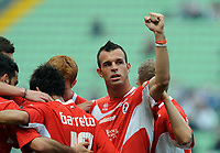 Fotball<br /> Italia<br /> Foto: Insidefoto/Digitalsport<br /> NORWAY ONLY<br /> <br /> esultanza di Riccardo Meggiorini bari dopo il gol 0-1 di Paulo Vitor Barreto Bari<br /> <br /> 09.05.2010<br /> Udinese v Bari<br /> Campionato Italiano Serie A 2009/2010
