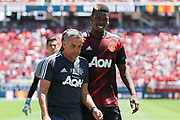 Manchester United Midfielder Paul Pogba during the AON Tour 2017 match between Real Madrid and Manchester United at the Levi's Stadium, Santa Clara, USA on 23 July 2017.
