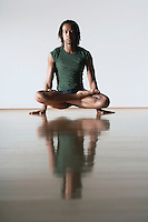 Ballet Dancer in lotus position
