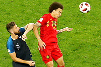 SAINT PETERSBURG, RUSSIA - JULY 10: Olivier Giroud (L) of France national team and Axel Witsel of Belgium national team vie for the ball during the 2018 FIFA World Cup Russia Semi Final match between France and Belgium at Saint Petersburg Stadium on July 10, 2018 in Saint Petersburg, Russia. MB Media