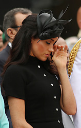 The Duchess of Sussex attends the opening of the Anzac Memorial in Hyde Park, Sydney, on the fifth day of the royal couple's visit to Australia.