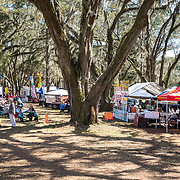Food court and vendor village at the Red Hills International Horse Trials in Tallahassee, Florida.