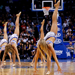 March 11, 2012; Orlando, FL, USA; Orlando Magic dancers performs during a game against the Indiana Pacers at  Amway Center.   Mandatory Credit: Derick E. Hingle-US PRESSWIRE