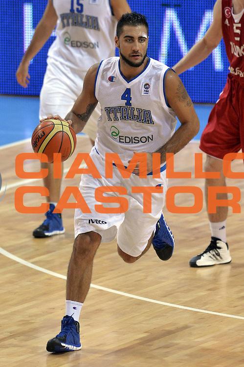 DESCRIZIONE : Capodistria Koper Slovenia Eurobasket Men 2013 Preliminary Round Italia Turchia Italy Turkey<br /> GIOCATORE : Alessandro Gentile<br /> CATEGORIA : Palleggio<br /> SQUADRA : Italia<br /> EVENTO : Eurobasket Men 2013<br /> GARA : Italia Turchia Italy Turkey<br /> DATA : 05/09/2013<br /> SPORT : Pallacanestro&nbsp;<br /> AUTORE : Agenzia Ciamillo-Castoria/GiulioCiamillo<br /> Galleria : Eurobasket Men 2013 <br /> Fotonotizia : Capodistria Koper Slovenia Eurobasket Men 2013 Preliminary Round Italia Turchia Italy Turkey<br /> Predefinita :