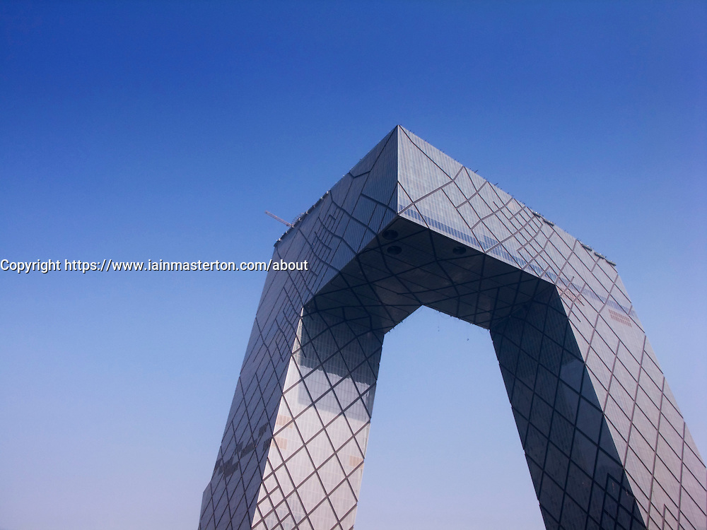 New China Central Television (CCTV) headquarters in Beijing 2009