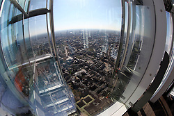 UK ENGLAND LONDON 21APR15 - View from the Shard London. The Shard is an 87-storey skyscraper in Southwark, London, that forms part of the London Bridge Quarter development. <br /> <br /> Standing 306 metres high, the Shard is currently the tallest building in the European Union.<br /> <br />  <br /> <br /> jre/Photo by Jiri Rezac<br /> <br /> <br /> <br /> © Jiri Rezac 2015