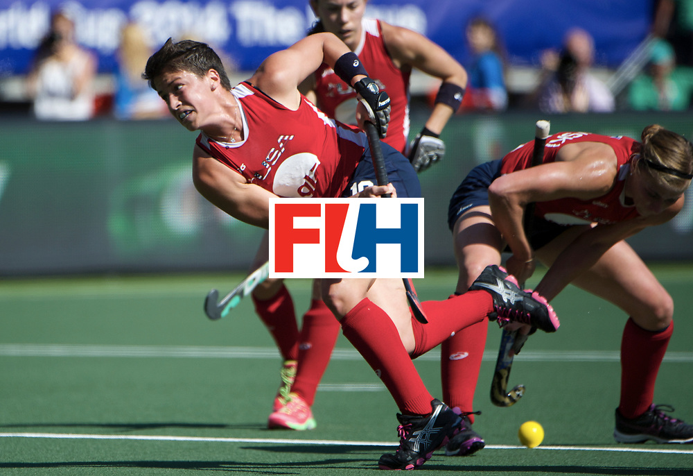 DEN HAAG - Rabobank Hockey World Cup<br /> 32 USA - Australia<br /> Foto: USA penalty corner variation.<br /> COPYRIGHT FRANK UIJLENBROEK FFU PRESS AGENCY