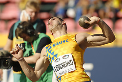 July 10, 2018 - Tampere, Suomi Finland - 180710 Friidrott, Junior-VM, Dag 1: Artem Levchenko UKR  competes in Shot Put during the IAAF World U20 Championships day 1 at the Ratina stadion 10. July 2018 in Tampere, Finland. (Newspix24/Kalle Parkkinen) (Credit Image: © Kalle Parkkinen/Bildbyran via ZUMA Press)