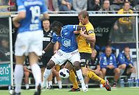 tippeliga, eliteserie, fotball, start, molde, 03.august, 2014<br />Daniel Chima Chukwu, Molde<br />Glenn Andersen, Start<br />Foto: Ole Fjalsett