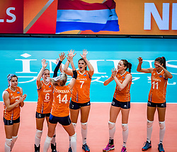 19-10-2018 JPN: Semi Final World Championship Volleyball Women day 18, Yokohama<br /> Serbia - Netherlands / Team Netherlands