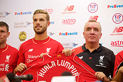 KUALA LUMPUR, MALAYSIA - Wednesday, July 22, 2015: Liverpool's captain Jordan Henderson and Managing Director Ian Ayre during a press conference at the Saujana Hotel on day ten of the club's preseason tour. (Pic by David Rawcliffe/Propaganda)